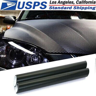 3D Car Black Interior Accessories Panel Carbon Fiber Vinyl Wrap Sticker 30*127cm