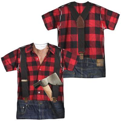 LUMBERJACK COSTUME Adult Men's Graphic Tee Shirt SM-3XL Halloween - Lumberjack Halloween Costume Mens