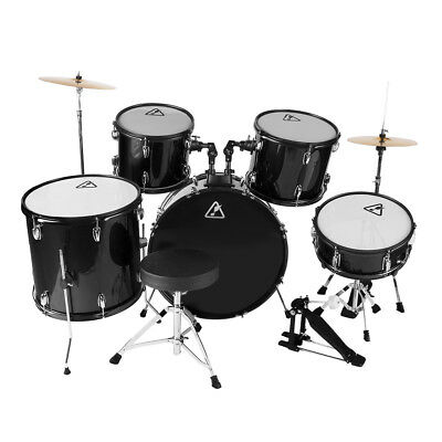 Full Size 22'' 5 Pieces Adults Drum Set Cymbal Kit with Stool Sticks Five Colour Five Piece Drum Kit