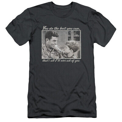 Andy Griffith Show Slim Fit T-Shirt Do Your Best Charcoal