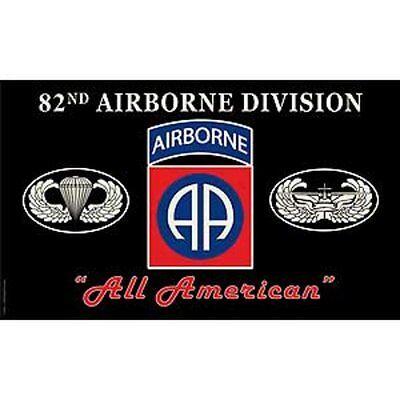 3x5 Army Black 82nd Airborne Division All American Premium Flag 3'x5' Banner -