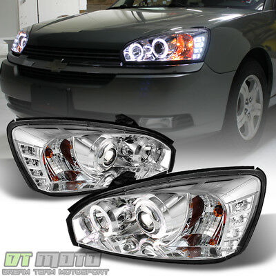 2004-2007 Chevy Malibu DRL Halo Projector Headlights w/LED Daytime Running Light