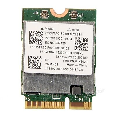 Broadcom Bcm94352z Ngff Dual Band 802 11Ac 867M Wifi Bt 4 0 Lenovo Fru 04X6020