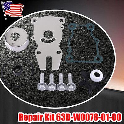 US Yamaha Water Pump Impeller Repair Kit F40/F50/F60hp Outboard 63D-W0078-01-00