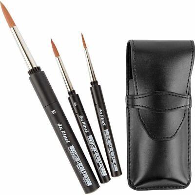 Da Vinci Pocket Travel Brush Set - 4,6,10 CosmoTop Spin 1573 Watercolour Brushes