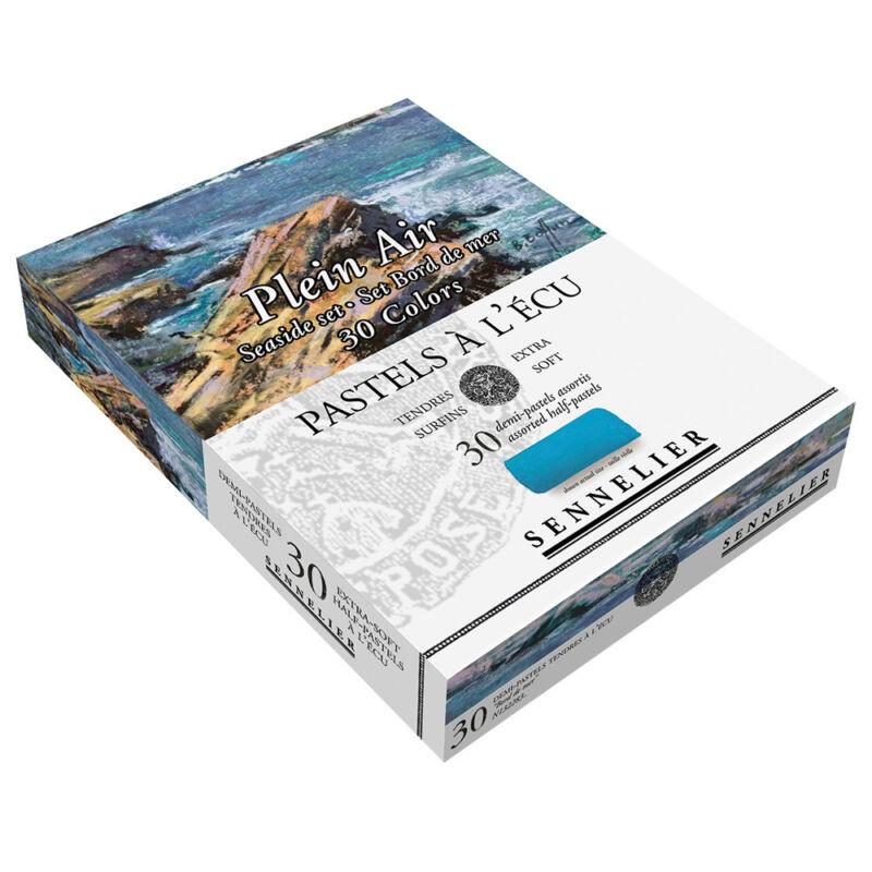 Sennelier Extra Soft Pastels Cardboard Box Set of 30 Half Sticks Seaside Colors