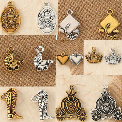 10-42 PC Metal Charms Solid Crown Baby Shower Carriage Communion Wedding - Baby Shower Carriage