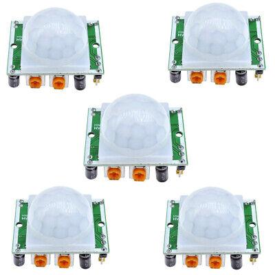 5pcs Hc-sr501 Motion Sensor Module Pir Motion Sensor For Arduino Diy Kit Green