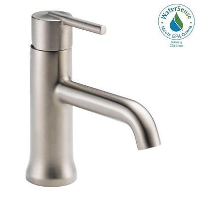 Delta 559LF-SSLPU One-Hole Bathroom Faucet Less Drain in Stainless Bathroom Faucet Less Drain