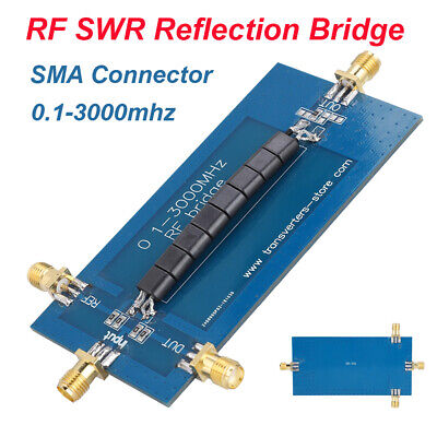 Rf Swr Reflection Bridge 0.1-3000 Mhz Antenna Analyzer Vhf Vswr Return Loss