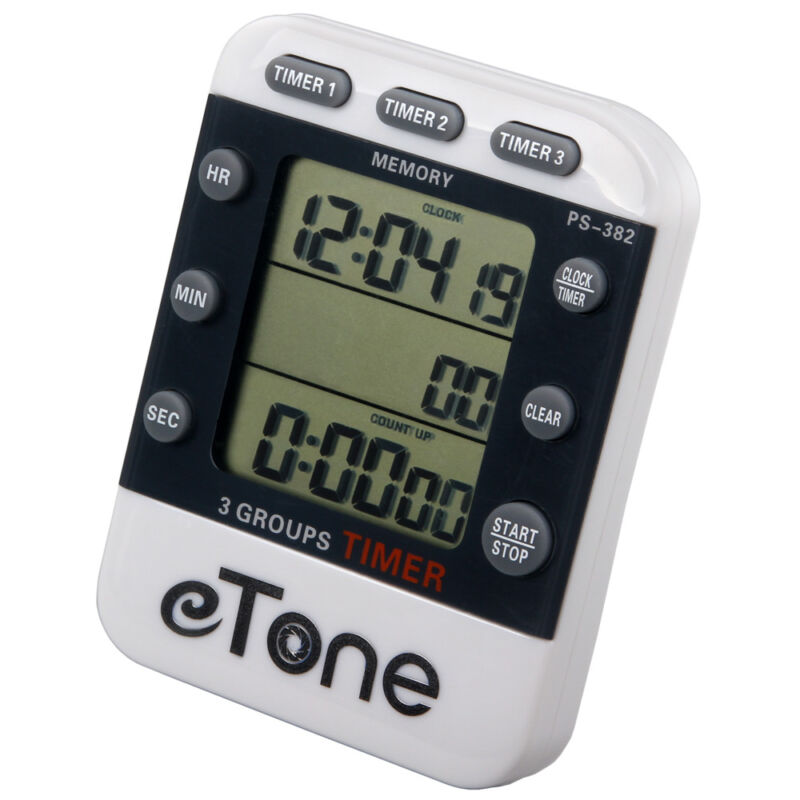 eTone 3 Channel Triple Darkroom Timer Counter Film Developing Countdown Clock