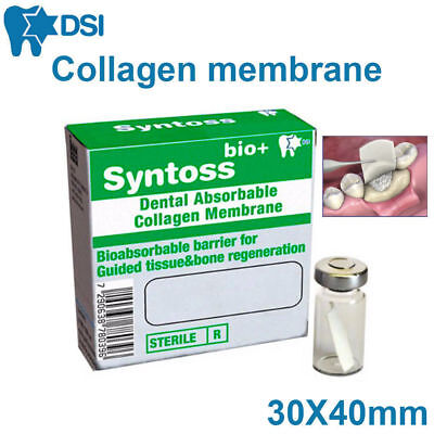 Resorbable Collagen Membrane Surgical Barrier Absorbable Dental Implant 30x40 Mm