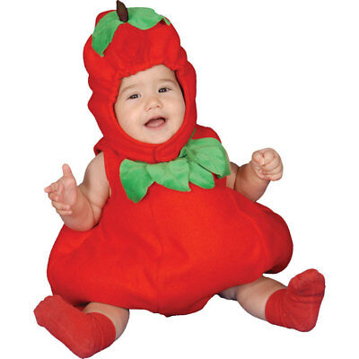 Dress Up America Baby Toddler Red Apple Fancy Costume Set