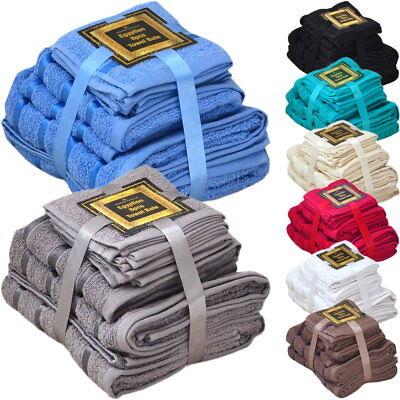 Handtuch Set Ägyptische Baumwolle 8-teilig Badetücher Handtücher Gesichtsuch Neu