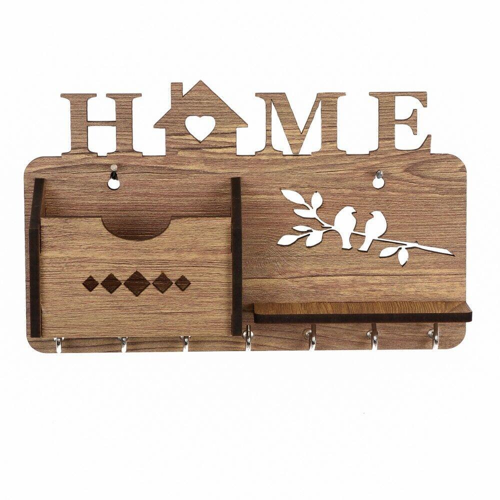 new wood key holder wall mount hooks