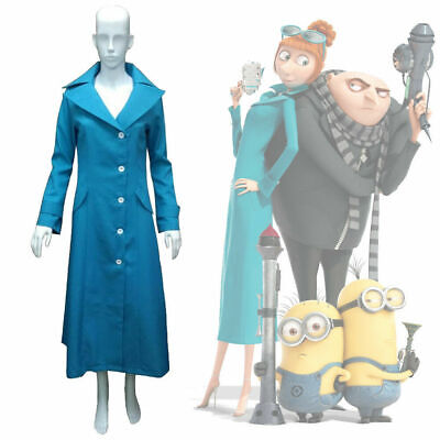 NEW Despicable Me 3 Lucy Wilde Cosplay Costume Coat Jacket Halloween Party
