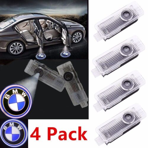 Car Parts - 2/4 CREE LED Door For BMW Projector Courtesy Puddle Shadow Laser Light Lamp Logo