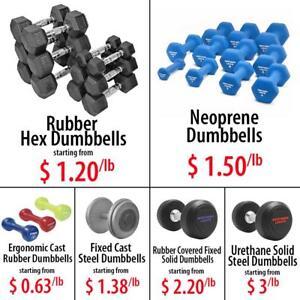 Rubber Coated Hex Neoprene Fixed Cast Steel Urethane Solid Dumbbells