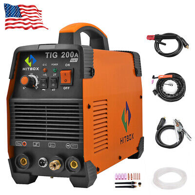 Hitbox Tig Welder 200a 220v Inverter Mma Welder Stick Welding Machine With Torch