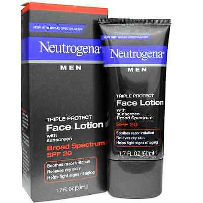 Neutrogena Men Triple Protect Face Lotion with Sunscreen SPF 20 1.70 oz
