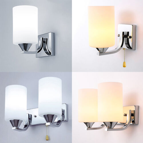 Modern Glass Wall Light LED Sconce Lighting Lamp Fixture Bed