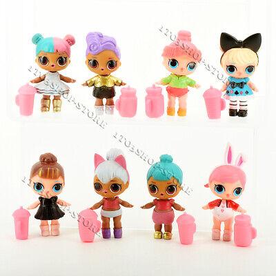 Lot of 8pcs LOL Surprise Dolls Figures Set Baby Tear Series w/Bottle for Kid Toy