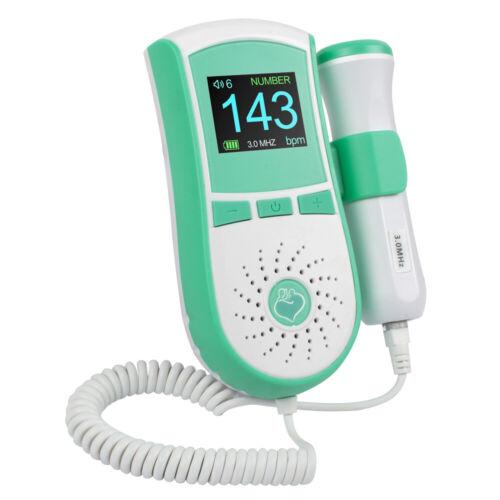 FDA Safty Medical Use Fetal Doppler 3MHz Probe, Baby Heart Monitor,LCD Display