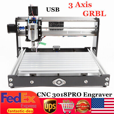 Cnc 3018 Router Kit 3 Axis Engraving Machine Grbl Control Usb Diy Wood Engraver