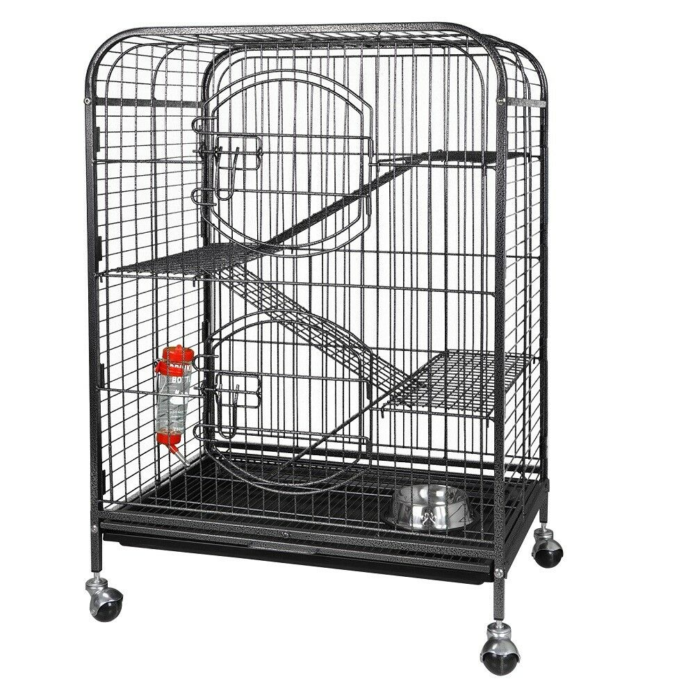 """37"""" Ferret Home Pet Cage Small Animals Hutch with 2 Front Doors & Tray Cages, Hutches & Enclosure"""