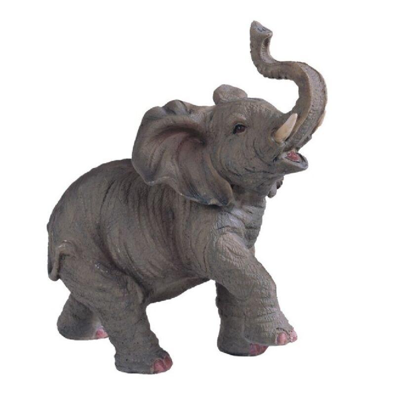 Elephant with Raised Trunk Figurine New