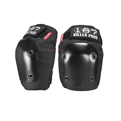 - 187 Killer Pads - Fly Knee Pads - Black  - roller derby skateboard safety