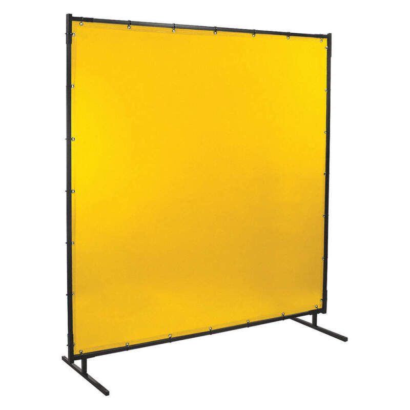 Welding Screen,6 ft. W,6 ft.,Yellow 534-6X6