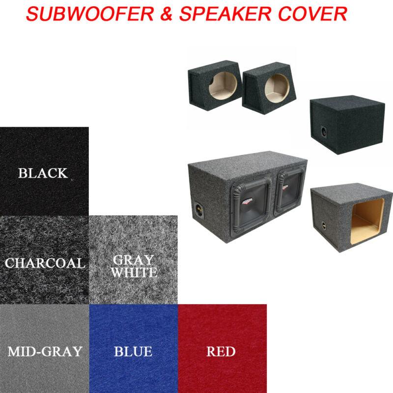 Sub-woofer Speaker Boxes Enclosure Cover Stereo Audio Video Wrap Trim Carpet Lot