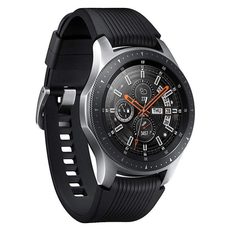 Samsung Galaxy Watch R800 Smartwatch 46mm silber Fitnesstracker Armbanduhr WOW!