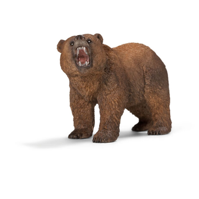 Schleich 14685 Grizzly Bear Figurine - World Of Nature Wild Life - America / New