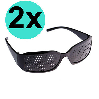2 Rasterbrille Gitterbrille Augentraining Sehkorrektur Pinhole Lochbrille Brille