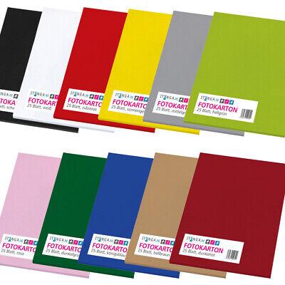 itenga Fotokarton DIN A4 300 g/qm 25 Blatt Bastel Zeichen Papier Ton Karton neu online kaufen