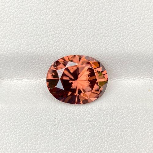 Natural Unheated Orange Pink Zircon 6.63 Cts Oval Precision Cut Loose Gemstone