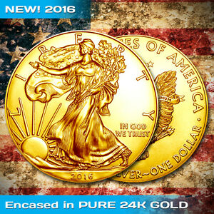 Gold Plated Silver Eagle Ebay