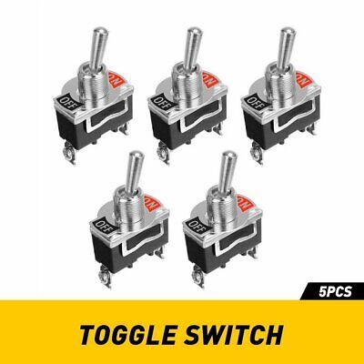 5 Set Waterproof Toggle Flick Switch 12v Onoff Car Dash Light Metal 12volt Spst