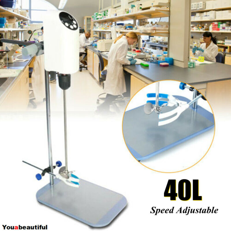 40L Electric Overhead Stirrer Digital Mixer Speed Adjustable for Laboratory HOT!