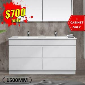 *SPECIAL* 1500mm Bathroom Vanity Drawer Cabinet Freestanding MIA