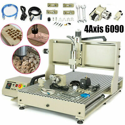 Usb 4axis Engraving Machine 6090 Cnc Router Control Box For Aluminum Wood 1500w