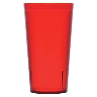 Carlisle Stackable Tumbler 16 oz Ruby Red SAN Plastic Pebbled (5216-10) ()