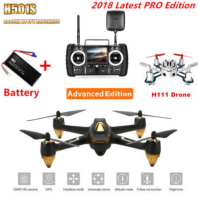 Hubsan H501S Pro X4 FPV Drone Brushless RC Quadcopter 1080P GPS Follow Me RTH UK