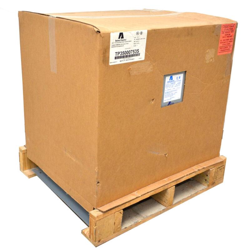 NEW Acme TP35000753S 75kVA Dry-Type Distribution Transformer 480 D Volts 3-PH
