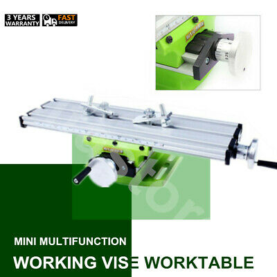 Milling Machine Work Table Bench Drill Vise Fixture Worktable X Y-axis Us Stock