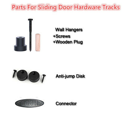Parts to Mount Rail to Wall Sliding Door Hardware Kit  Wall (Sliding Door Parts)