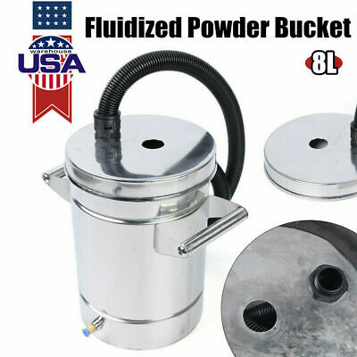 Used Small Stainless Steel 304 Fluidized Powder Hopper F Powder Coating Machin