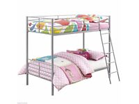 Single Metal Bunk Bed Frame For Sale And MAttress Cheap Price